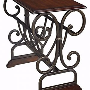 Braunsen Chairside Coffee Table Bronze Color