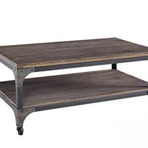 Progressive Furniture Zack Cocktail Table, 48x28x18, Brown