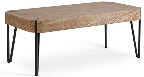 Hillenbrand Co Rustic Coffee Table Oak Wood Veneer Finish