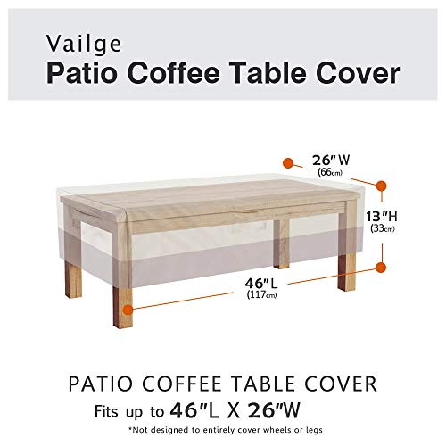 Vailge Rectangular Coffee Table Cover
