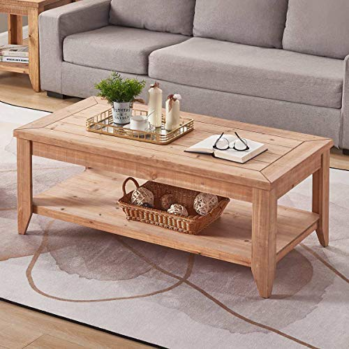 Bon Augure Natural Wood Coffee Table