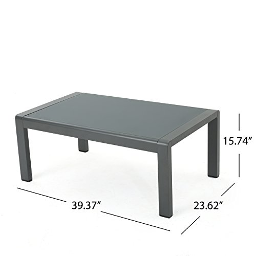 Crested Bay Patio Furniture | Outdoor Grey Aluminum Coffee ...