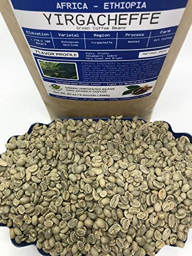 Ethiopia Yirgacheffe Unroasted Arabica Green Coffee Beans