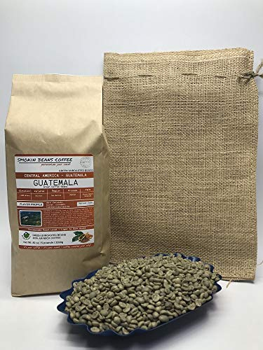 5 Pounds - Central American - Guatemala - Unroasted Arabica Green Coffee Beans Coffee and TEA ...