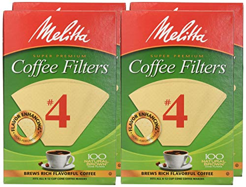 100 Count Natural Brown Melitta Number 4 Coffee Filters