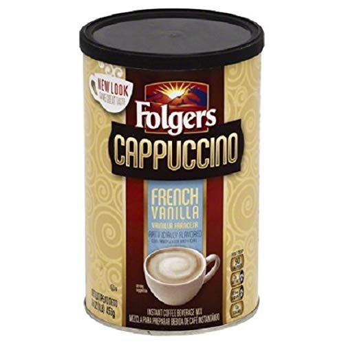 PACK OF 8 - Folgers Mocha Chocolate Cappuccino Coffee Mix, 16 oz
