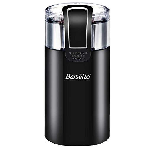 Coffee Grinder Electric,Barsetto150W Powerful Blade Coffee Bean & Spice Grinder with 12 Cups Large Grinding Capacity for Dry Spices, Nuts, Seeds, Beans, Stainless Steel Blades, Black ...