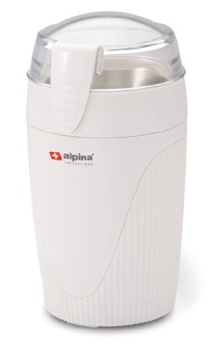 Alpina SF-2813 Electric Coffee/Spice/Nut Grinder for 220/240 Volt Countries (Not for USA), White