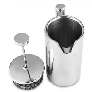 350ml Stainless Steel Coffee Maker - Silver