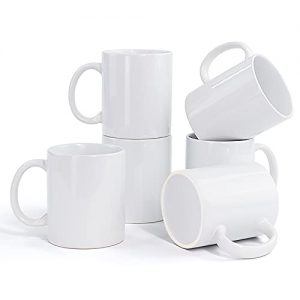 Porcelain Sublimation Mugs Set of 6