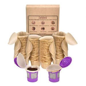 Unbleached Paper Filters With Lid for Reusable Coffee Pods