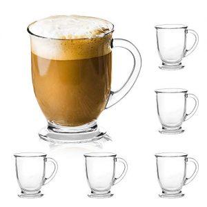 15oz/450ml Glass Coffee Mugs Clear Coffee Cups