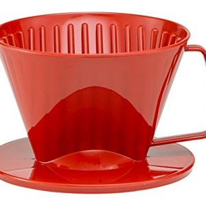 HIC Coffee Filter Cone, Red, Number 1-Size