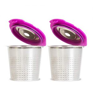 Cafe Flow Stainless Steel Reusable K Cup, 2-Pk by Perfect Pod