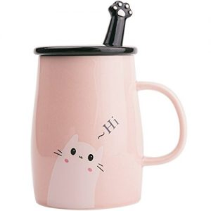 Angelice Home Pink Cute Cat Mug