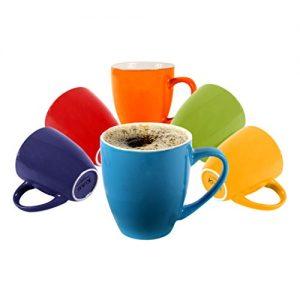 Klikel 6 Colored Coffee Mugs Set