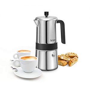 Brim 6 Cup Moka Maker, Perfect Stovetop Espresso Maker