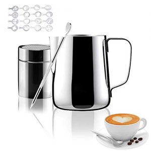 Milk Frother Cup for Coffee Cappuccino Latte Art