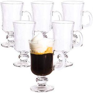 Glass Irish Coffee Cup, Set of 6