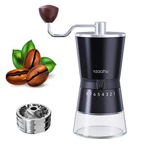 Vzaahu Manual Coffee Grinder with Stainless Steel Conical Burr