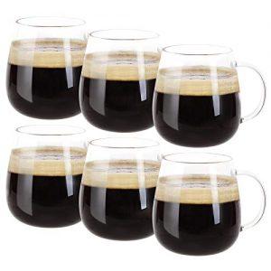 Farielyn-X Glass Coffee Mugs Set of 6