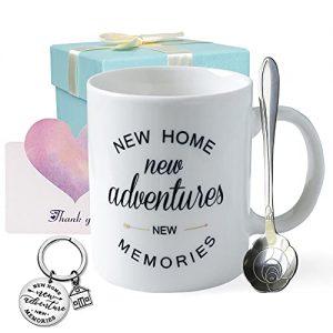 Housewarming Gift for New Home 11oz Coffee Mug Keychain