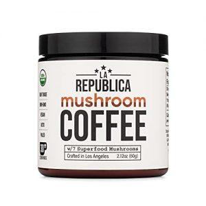 Organic Mushroom Coffee La Republica Cordyceps, Shiitake, Maitake, and Turkey Tail
