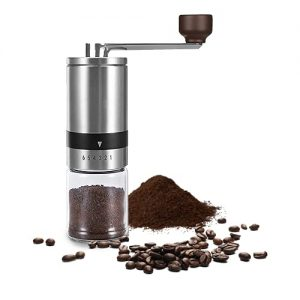Manual Coffee Grinder With 6 Adjustable Settings