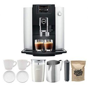 Jura E6 Automatic Coffee Center, Platinum Includes Milk Container