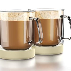 Double Wall Insulated Glass Coffee Mugs