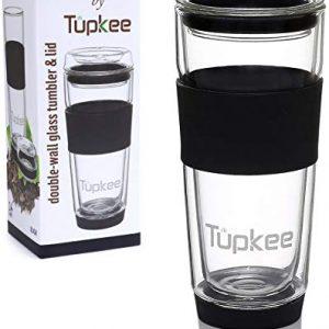 Tupkee Double Wall Glass Tumbler - 14-Ounce