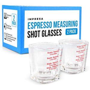 Espresso Measuring Shot Glasses for Baristas or Home Use