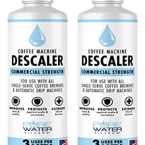 Descaler for Coffee Machines (6 Total Uses) - Made in USA