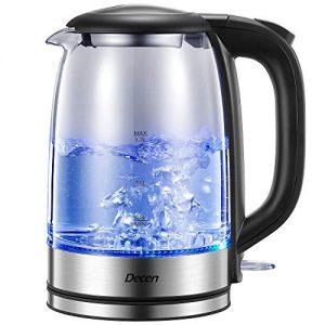 Decen 1500W Glass Electric Tea Kettle with Speedboil Tech