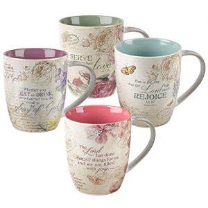 Christian Art Gifts Ceramic Coffee/Tea Mug Set for Women
