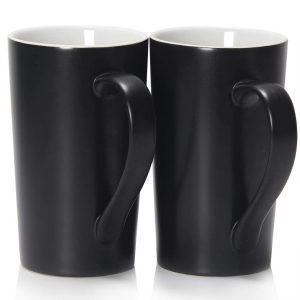 Large Coffee Mug Plain Tall Ceramic Cup with Handle