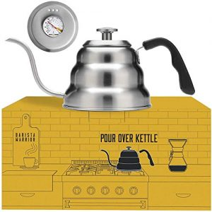 Barista Warrior Stainless Steel Pour Over Coffee & Tea Kettle