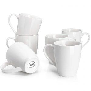 Sweese Porcelain Mugs, Set of 6