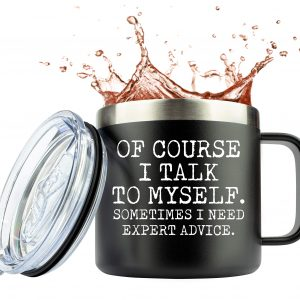 Funny Mugs for Men with Slid Lid Unique Gift by JENVIO