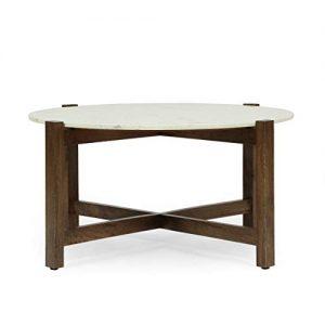 Coffee Table Smoke Brown + White