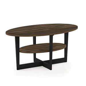 Columbia Walnut/Black Coffee Table