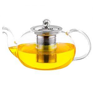 Stovetop Glass Teapot ea Kettle Microwave & Dishwasher Safe