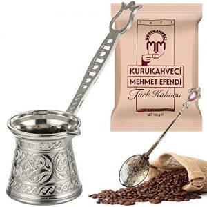 Greek Arabic Coffee Maker Double-Deck Turkish Coffee Pot