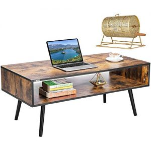 Coffee Table with Storage Shelf Premium Raffle Ticket Drum