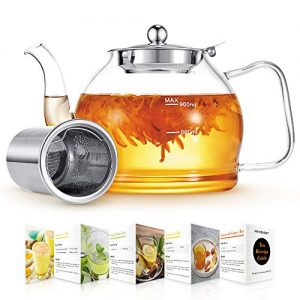 Glass Teapot with Removable Infuser Teapot Stovetop