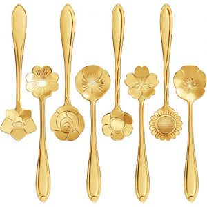 Flower Coffee Spoon 16 Pieces Stainless Steel
